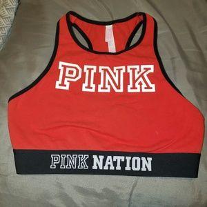 Victoria's Secret Pink red sports bra EUC
